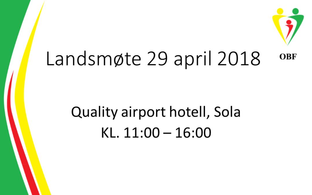 Landmøte 29 april